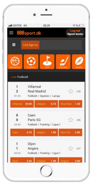 888 Sport mobil app